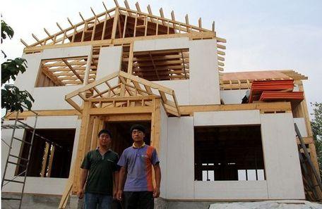 [农村小伙自建别墅]自建房_澳大利亚轻钢别墅住宅建造