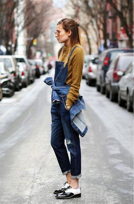 牛仔背带裤搭配什么鞋子5:平底鞋/休闲鞋
